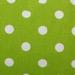 Chartreuse /w Dots Gabardine
