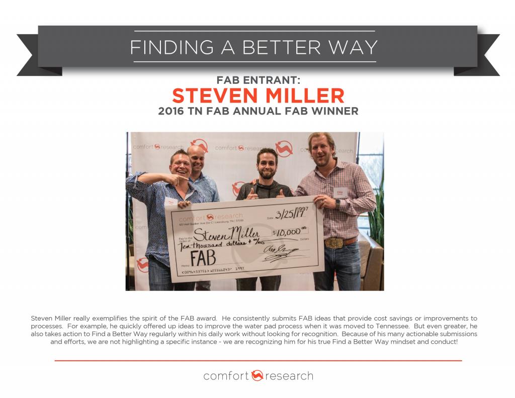 Steven Miller 2016 FAB 10k Winner