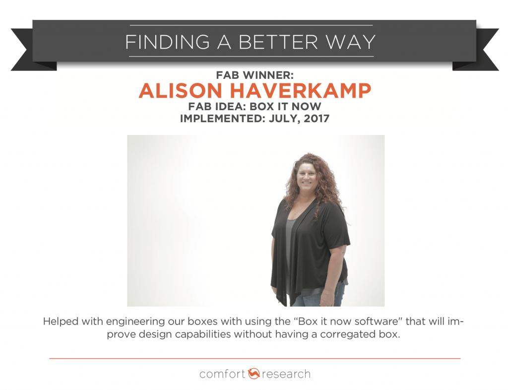Alison Haverkamp - FAB Winner